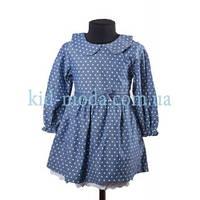 Платье Zara в горошек с бантиком на поясе