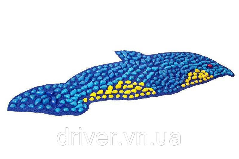 Килимок масажний ортопедичний, 150х40см. Дельфін