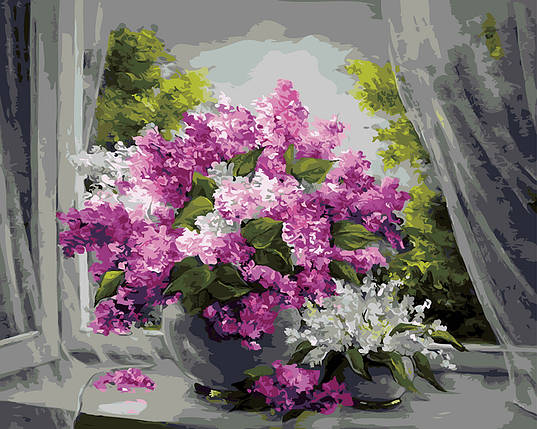 "Картина по номерам ""Сирень у окна"", фото 2"
