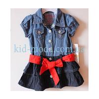 Платье детское джинсовое Guess с красным поясом