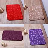 Плюшевый коврик «Галька» фиолетовый 50×80 см, фото 7