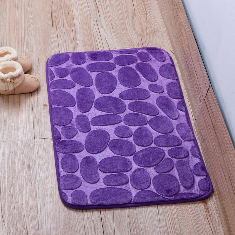 Плюшевый коврик «Галька» фиолетовый 50×80 см