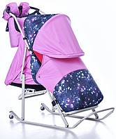 Современные, оригинальные, комфортные санки-коляска kristy luxe comfort - стильный дизайн и функциональность