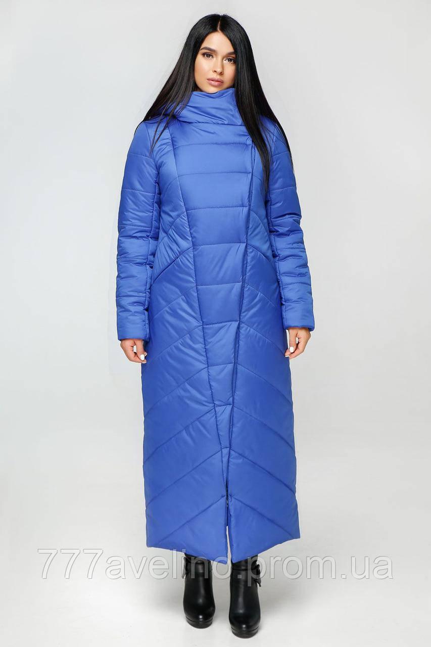 Длинная женская зимняя куртка модная