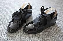 Женские кроссовки Black  лак бант осень 37-40 Италия