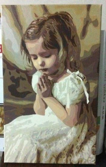 Набор для рисования Молитва девочки (G264) 40 х 50 см