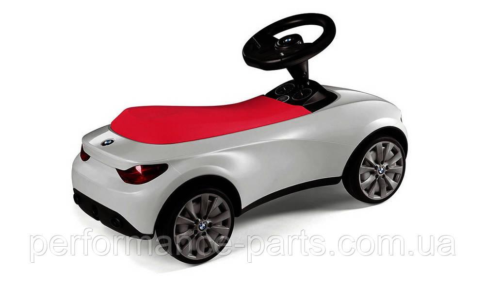 Детский автомобиль толкар BMW Baby Racer III, White / Raspberry Red, артикул 80932413784