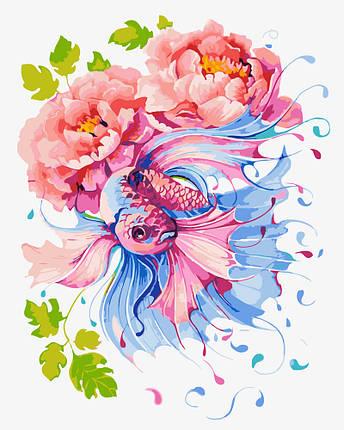 """Картина по номерам """"Рыбка в цветах"""", фото 2"""