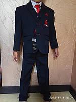 Костюм школьный Турция ( Пиджак, брюки, жилетка, галстук, рубашка)