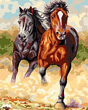 "Картина по номерам ""Степные лошади"""