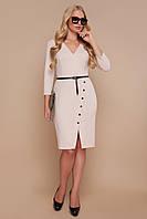 Ділова приталена сукня з креп-дайвінгу, фото 1