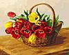"Картина по номерам ""Корзинка тюльпанов"""
