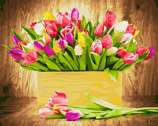"""Картина по номерам """"Ящик тюльпанов"""", фото 2"""