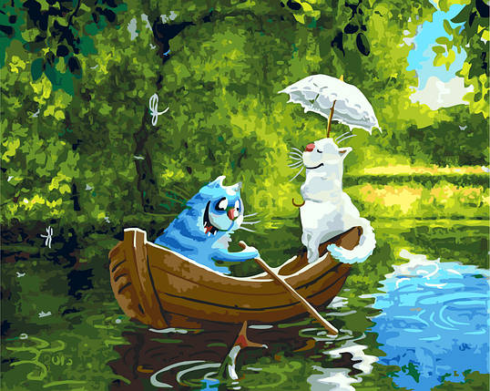 """Картина по номерам """"Свидание на озере"""", фото 2"""