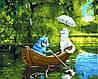 """Картина по номерам """"Свидание на озере"""""""
