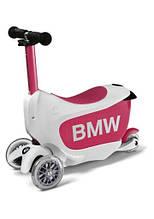 Дитячий самокат беговел BMW Kids Scooter, White/Raspberry, артикул 80932450902