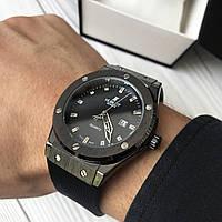 Мужские часы Hublot Geneve Black, Хублот, чоловічий годинник, черные