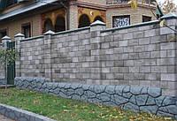 Строим забор: декоративные бетонные блоки