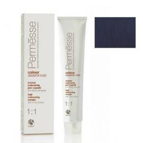 1,1 Чорно-синій, Barex Permesse Крем - фарба для волосся з маслом каріте 100 мл.