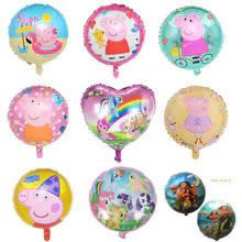 Фольгированные круглые шары с рисунками