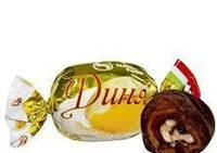 Конфеты дыня с грецким орехом в шоколаде