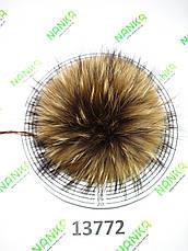 Меховой помпон Енот, 21 см, 13772, фото 3
