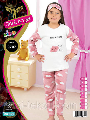 Пижама подросток махра+флис 8-14 лет Night Angel № 9707, фото 2