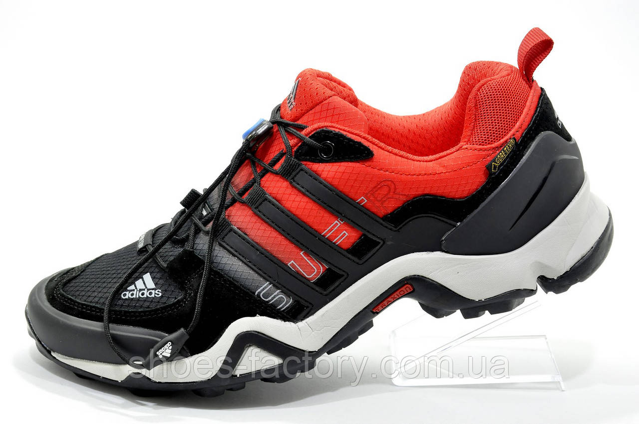 Кроссовки туристические в стиле Adidas Terrex Swift R2 GTX Gore-Tex, Black\Red