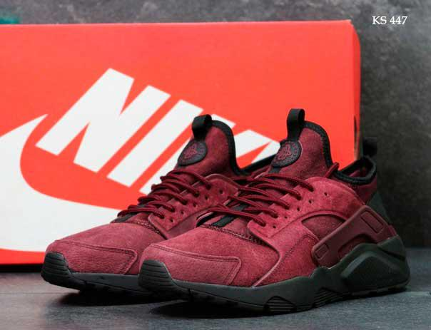 Кроссовки Nike Huarache замша (бордовые )