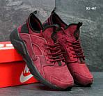 Кроссовки Nike Huarache замша (бордовые ), фото 3