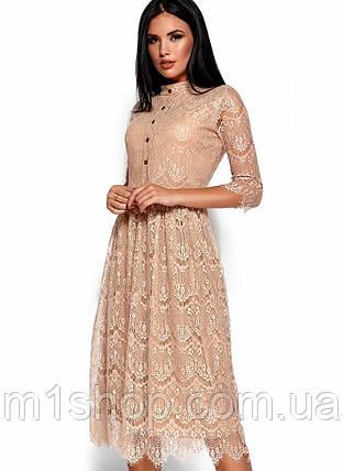 Ажурное платье с приталенным верхом и свободной юбкой (Шантиkr), фото 2