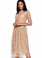 Ажурное платье с приталенным верхом и свободной юбкой (Шантиkr)