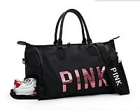 Сумка Victorias Secret с пайетками PINK и карманом для обуви