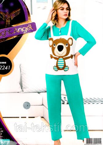 Пижама женская брюки и кофта качество лайкра Турция Night Angel № 02241, фото 2