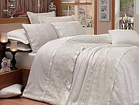 Кружевное постельное белье с покрывалом кремовое от Dantela Vita