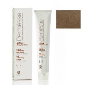 9,1 Супер світлий блондин попелястий, Barex Permesse Крем - фарба для волосся з маслом каріте 100 мл.