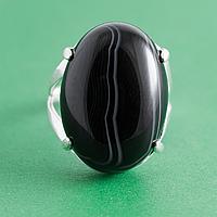 Оникс, 25*18 мм., серебро 925, кольцо, 919КО