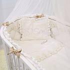 Детское постельное белье для овальной/круглой кроватки Маленькая Соня Ricci белый, фото 5