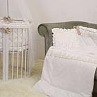 Детское постельное белье для овальной/круглой кроватки Маленькая Соня Ricci белый, фото 7