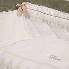 Детское постельное белье для овальной/круглой кроватки Маленькая Соня Ricci белый, фото 6
