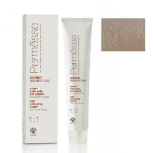10,1 Екстра світлий блондин попелястий, Barex Permesse Крем - фарба для волосся з маслом каріте 100 мл.