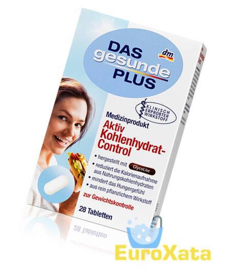 Биологически активная добавка DAS gesunde PLUS Aktiv Kohlenhydrat-Control для похудения 28 таб (Германия)