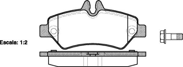 Capital c0017 тормозные колодки (задние) MERCEDES-BENZ SPRINTER, Volkswagen CRAFTER 30-50