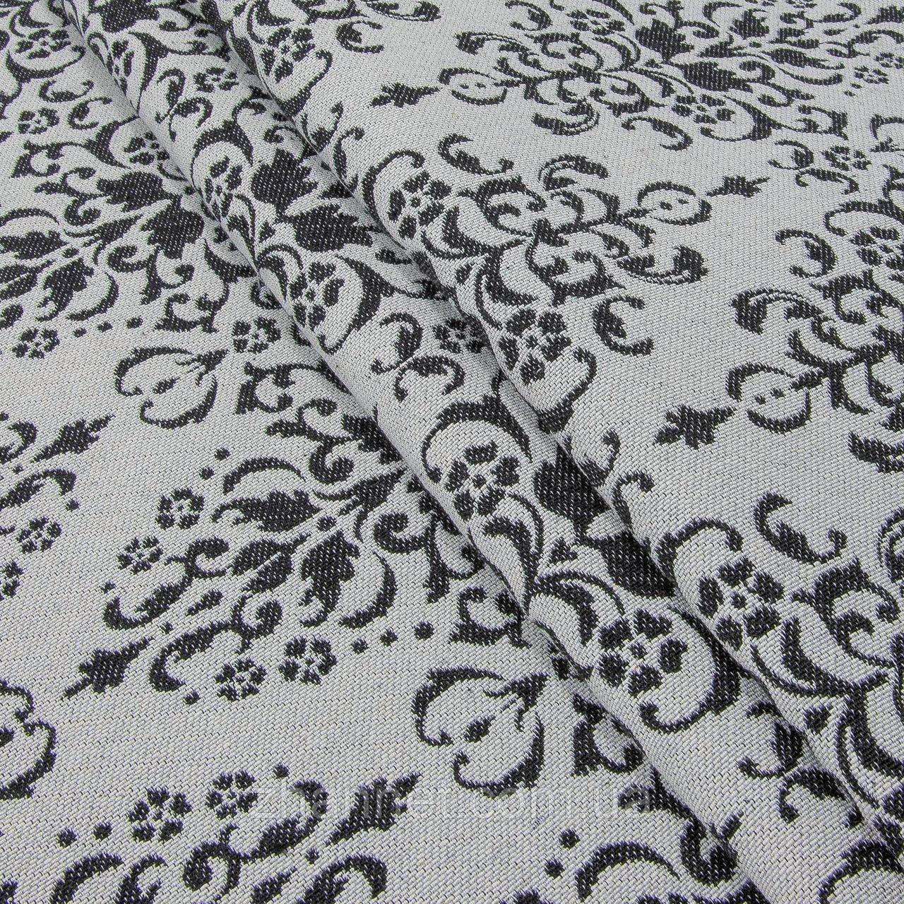 Ткань гобелен Вензель черный 150 см (495831)