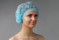 Одноразова шапочка-Шарлотка(гармошка) синя 100шт