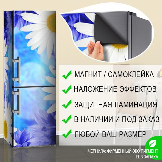 Декор старого холодильника, Самоклейка, 180 х 60 см, Лицевая