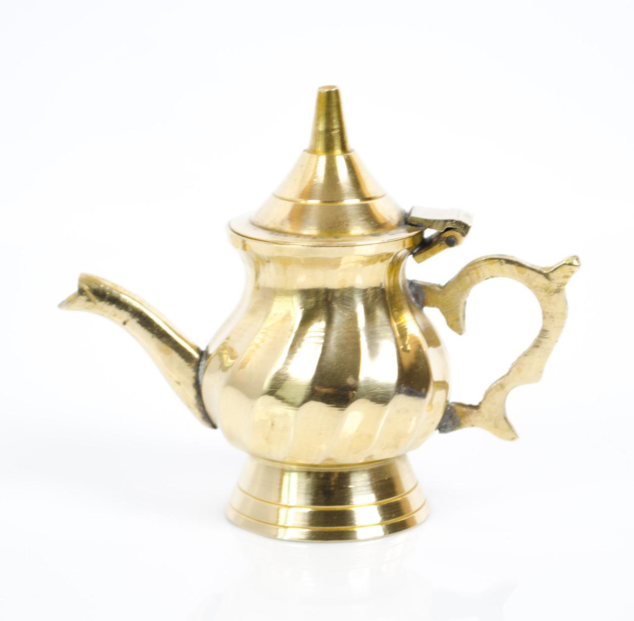 Коллекционный кофейник, миниатюра, латунь Англия