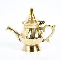 Коллекционный кофейник, миниатюра, латунь Англия, фото 1