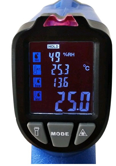 пирометр - термогигрометр Xintest IR-817