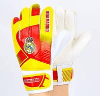 Перчатки вратарские REAL MADRID (PVC, р-р 8-10), фото 1